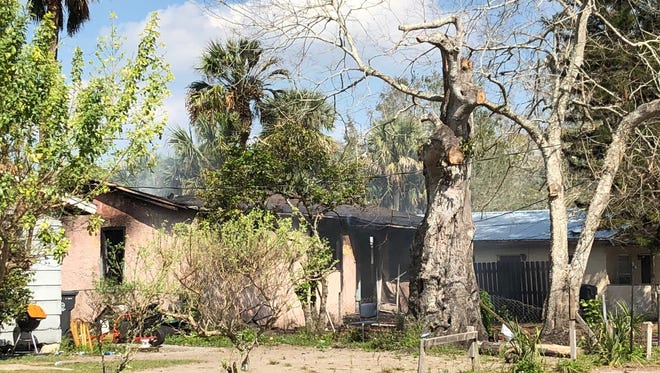 A Titusville residence was destroyed in a fire Friday.