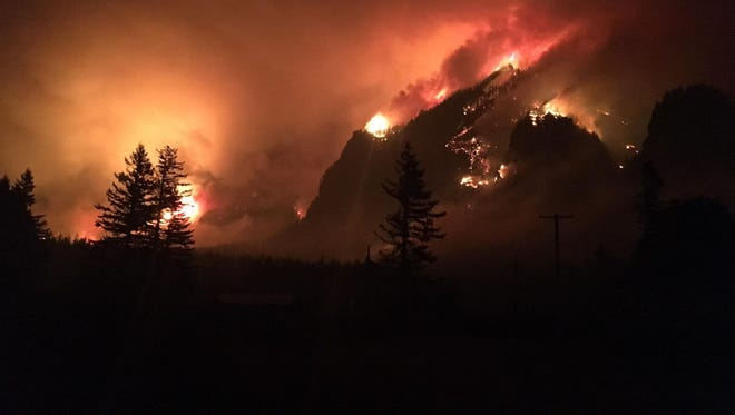 The Eagle Creek Fire on Sept. 4, 2017.