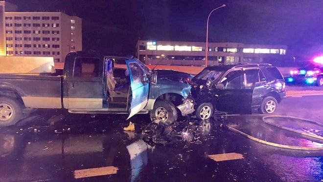 A 49-year-old Pennsylvania man was killed Friday night in a head-on crash on Naamans Road that occurred while he was fleeing the scene of another crash, according to police.
