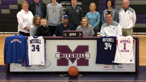 Mitchell senior Morgan Buchanan signed last week to