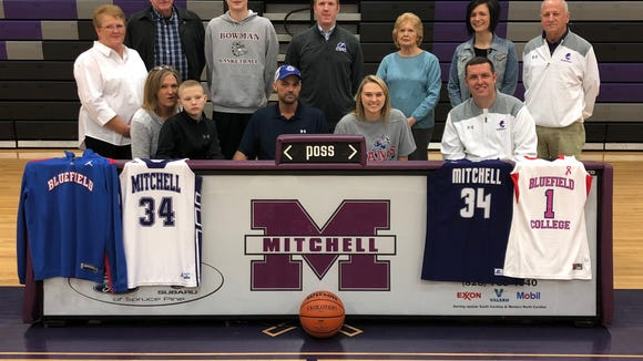 Mitchell senior Morgan Buchanan signed last week to play college basketball at Bluefield College.