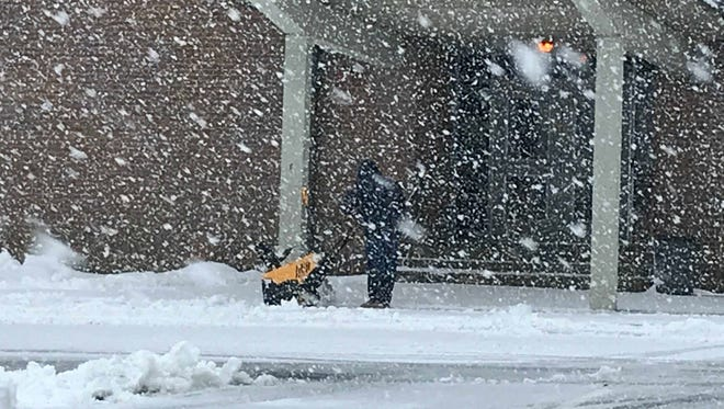 About eights of snow fell on average throughout Central Jersey on Wednesday. A Rutgers meteorology professor says another spring snowstorm is possible, but not probable.