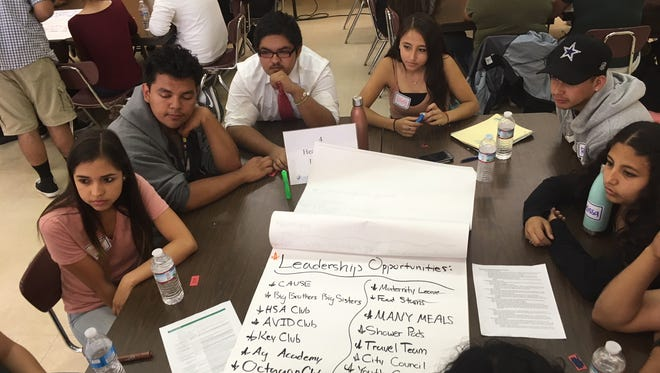 Around 100 students gathered at Santa Paula High to discuss youth services in the city.