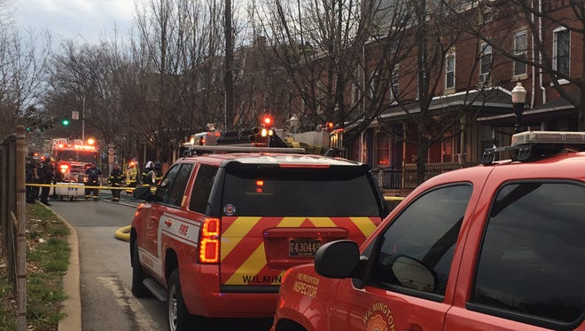 It crews an hour-and-a-half to bring a fire under control Friday morning in the 1000 block of Adams St.