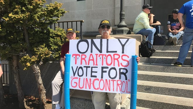 Larry Braico of Manchester Township believes the right to bear arms is absolute.