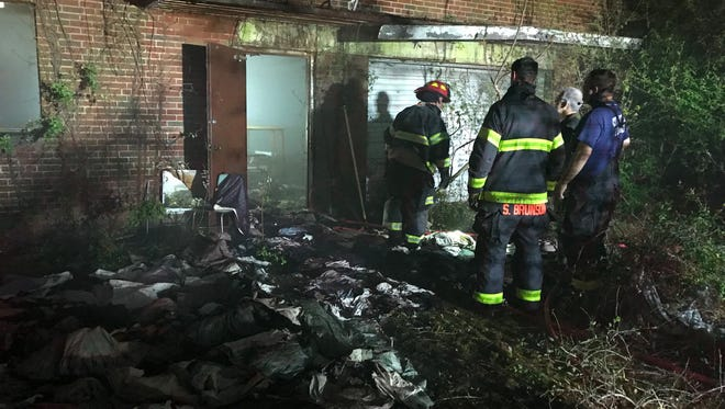 Firefighters extinguished a fire at Knoxville College on Tuesday, April 17, 2018.