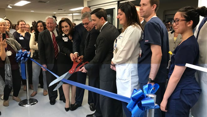 Robert Wood Johnson University Hospital New Brunswick celebrated the completion of the first phase of the Emergency Department expansion project with a ribbon cutting ceremony on Tuesday.