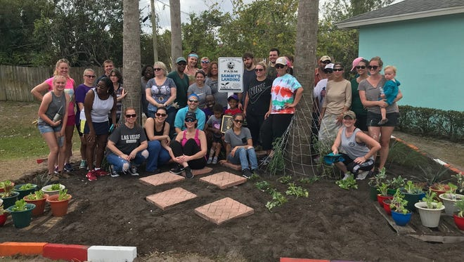 Single mothers living at M.I.S.S. Inc.'s Port St. Lucie housing facility now have a sustainable garden, thanks to the generosity of deputy clerks at the St. Lucie County Clerk's office.