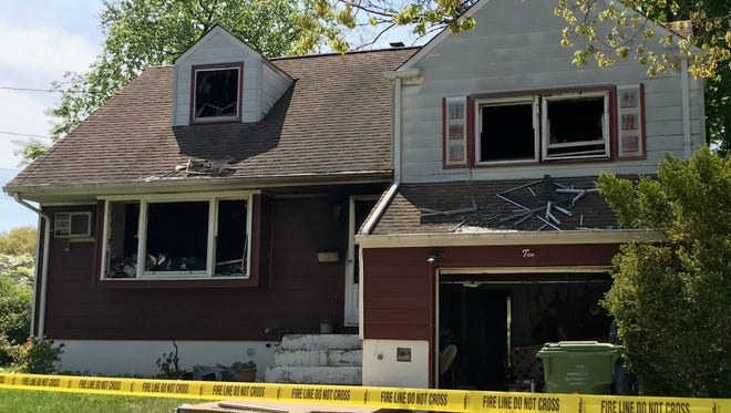 A 62-year-old woman died following a fire Tuesday night at her Amherst Place home.