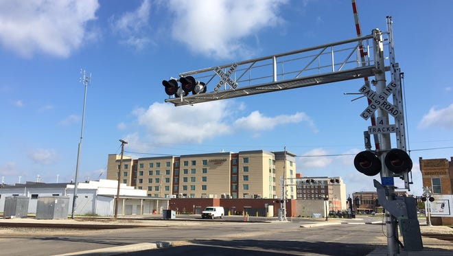 The railroad crossing on Walnut Street just south of downtown Muncie could be closed for two weeks beginning May 21.