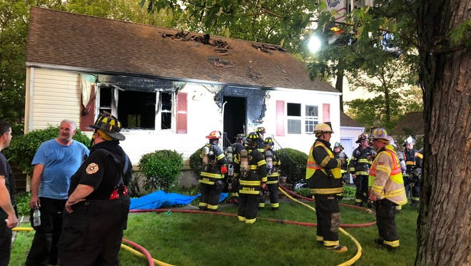 A fire caused extensive damage to a house on Van Court in Waldwick May 15, 2018.