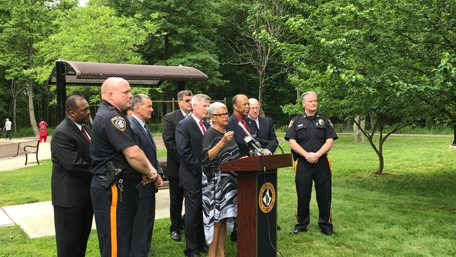 U.S. Representatives FrankPallone Jr. (D-N.J. 6th District) and Bonnie Watson Coleman (D-N.J. 12thDistrict) were joined by state and local leaders onWednesday to call on Congress to act on legislation to reduce gun violence.