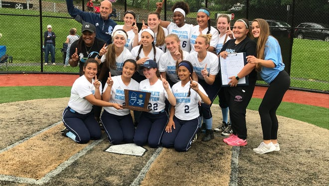 Immaculate Conception won its seventh straight North Non-Public B sectional softball title Thursday. Only problem it had was figuring out how exactly to flash seven fingers.
