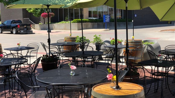 Parker's Bistro often has live music on their patio in the summer.