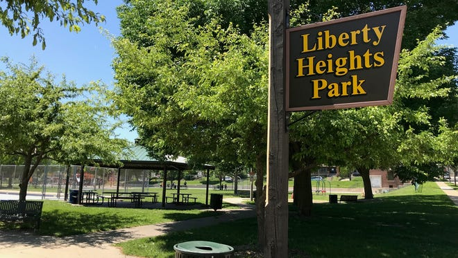 Liberty Heights Park, 61st and Orchard streets, is where a 14-year-old boy set fire to a trash can shortly before 8 p.m. Sunday, June 3.