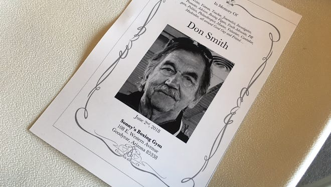Don Smith's memorial was held on June 2 at Sonny's Boxing Gym in Goodyear.