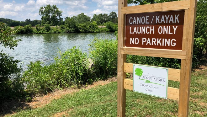 The Concord Park canoe and kayak launch area in Knoxville, Tennessee on Tuesday, June 12, 2018.