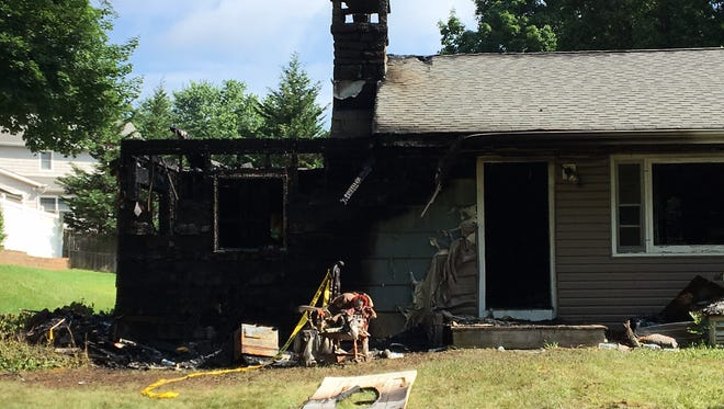 Home at 7 Maple Drive in Randolph extensively damaged by overnight fire.