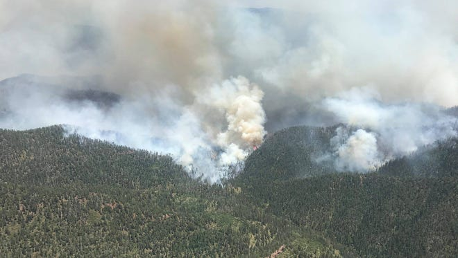 The 416 Fire team released this image yesterday of fire progressing in the Deer Creek and Elk Creek wilderness areas at the northwest end of the blaze.