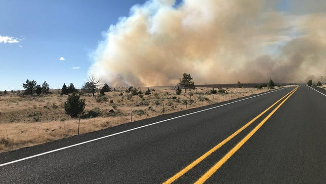 The Boxcar Fire in Central Oregon was one of Oregon's earliest wildfires of the season.
