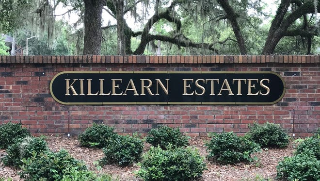 Killearn Estate entrance sign off Thomasville Road. There are about 3,800 homes in the neighborhood.