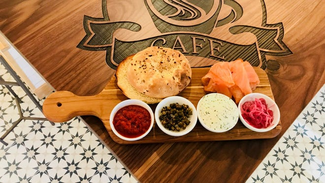 Smoked salmon platter at the new Saddle River Cafe