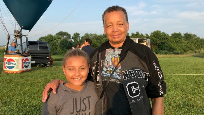 Taylor Woods, 10 and her grandmother, Pearl Woods of Woodbridge at the QuickChek New Jersey Festival of Ballooning.
