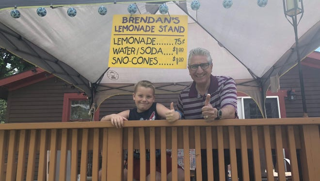 Sen. James Tedisco, R-Glenville, Schnectady County, released a photo Sunday, July 29, 2018 of his with a Saratoga County boy whose lemonade stand was shut down by a women who identified herself as a state Department of Health employee.