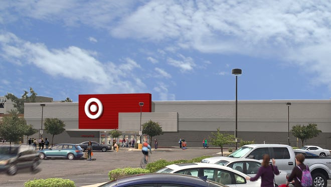 """Target plans to open its first """"flexible-format"""" store in Arizona, seen here in a rendering, at 16th Street and Camelback Road in Phoenix. The building formerly housed a Sports Authority."""