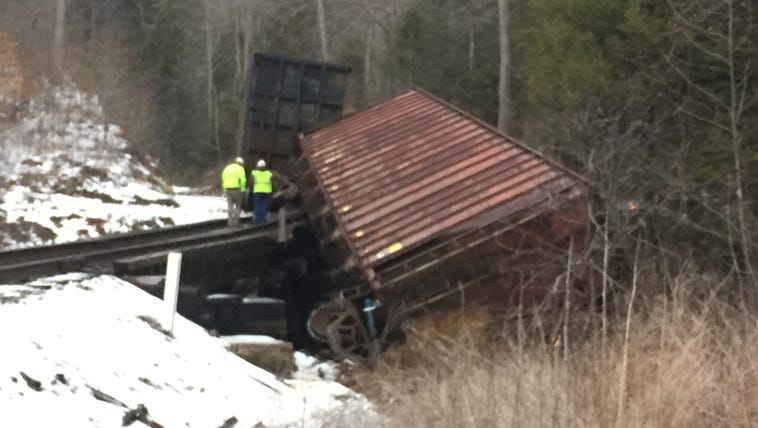 Train derails in Campbell County.