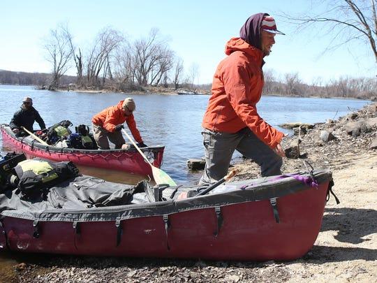 Jarrad Moore, a Van Meter native, prepares to push