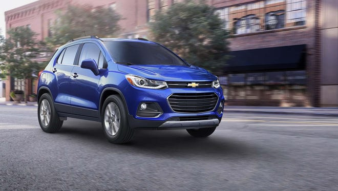 """The Trax's dimensions and engine are unchanged, but its """"dual port"""" fascia adopts family features from the Malibu."""