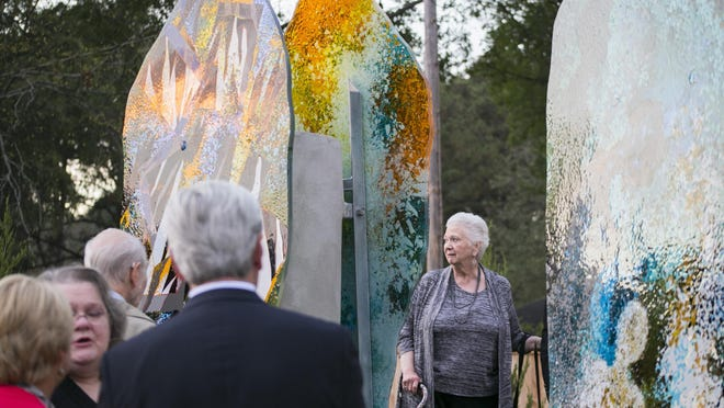 The Gus Waterman Herrman Holocaust Memorial Garden at Beth Israel Congregation in Jackson was unveiled Sunday evening.