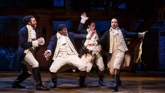 """""""Hamilton"""" is available for streaming on Disney+."""