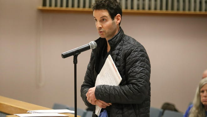 Dr. Jonathan Fugo, owner of Dr. Fugo Plastic Surgery, spoke at a public hearing on moratorium on Feb. 5.
