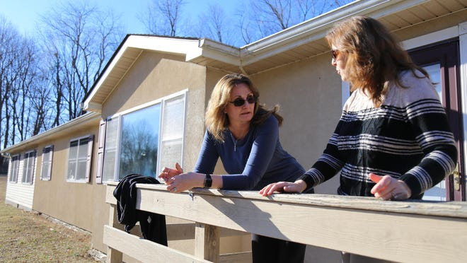 Karen Bakun, volunteer coordinator of Faith House, and Director of MyChoice Pregnancy Care Centers Leslie Toback, share their vision about a maternity house.