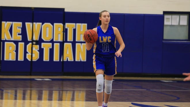 Lake Worth Christian senior Jillian Schenk is the Florida Dairy Farmers Class 2A girls basketball Player of the Year.