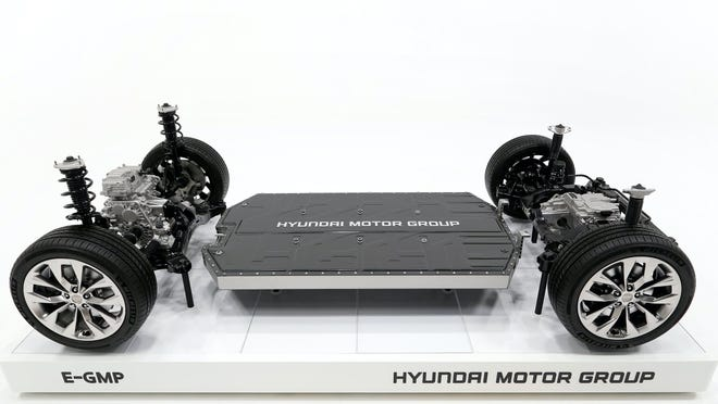 Hyundai's E-GMP electric-vehicle platform could underpin Apple's car.