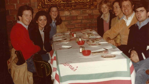 This 1981 photo of a senior trip to New York shows