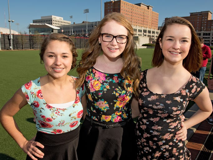 The University of Cincinnati expanded its annual spring concert into a mini-music festival, ONOFest (One Night Only). Here,Olivia Dempsey, Christina Burke and Molly Loos of Pickerington.