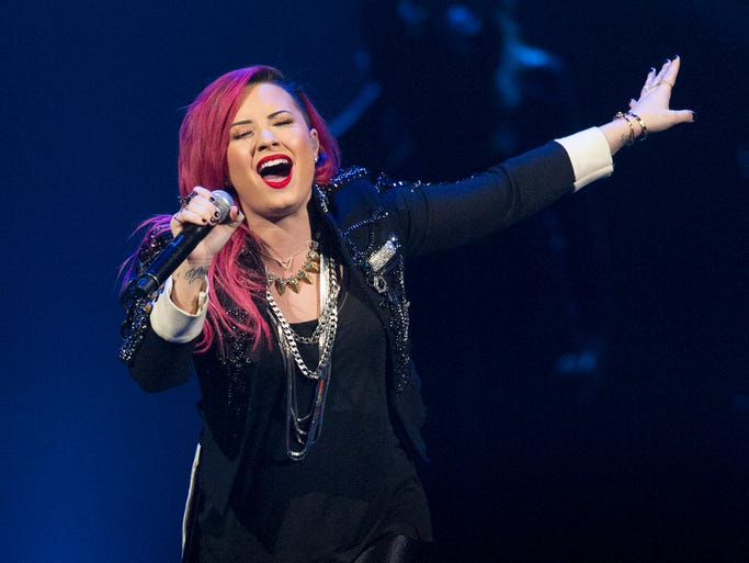 Demi Lovato performed Sunday, March 30, 2014, at Bankers Life Fieldhouse.