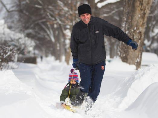 Despite frigid temperatures, Jack Paul, 5, enjoys a