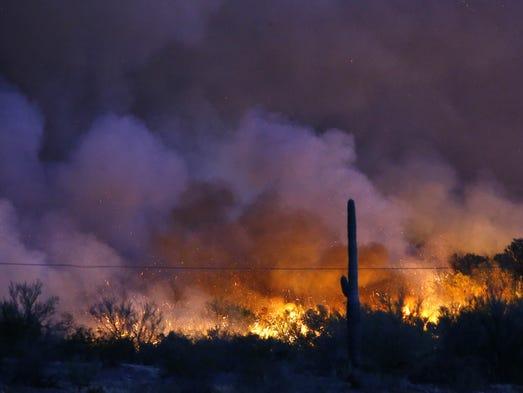 El Kearny River Fire creció a mil 100 acres la mañana
