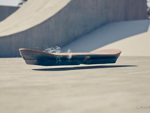'No hoax': Lexus creates a hoverboard