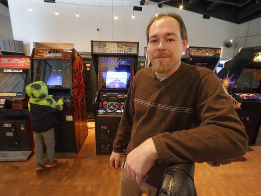 Damon Lowe is curator of the Retro Arcade exhibit at