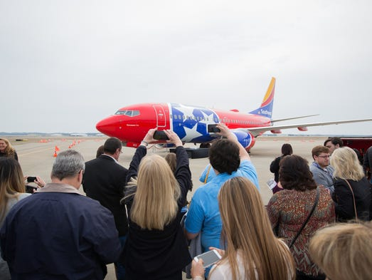 Southwest Airlines unveils a high-flying tribute to