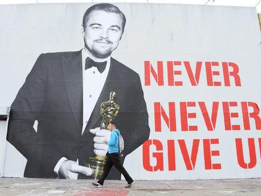 LOS ANGELES, CA - MARCH 03:  Leonardo DiCaprio Oscar