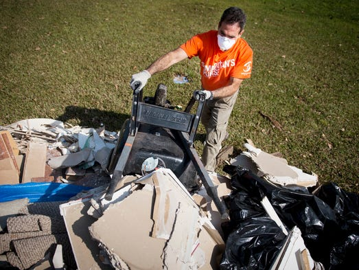 Samaritan's Purse volunteer Steven Bruno, of Long Island,
