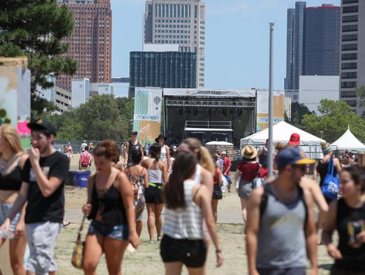 West Riverfront Park in Detroit hosted the Mo Pop Festival