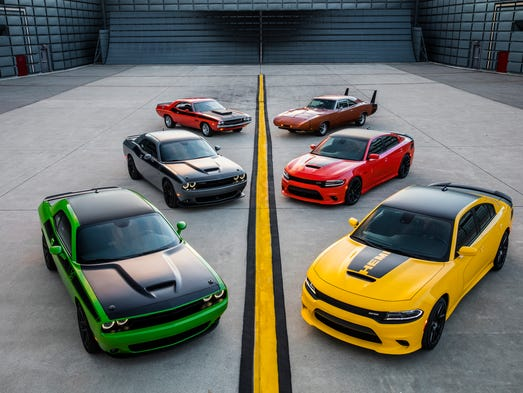 A group shot of the 2017 Dodge Charger Daytona and
